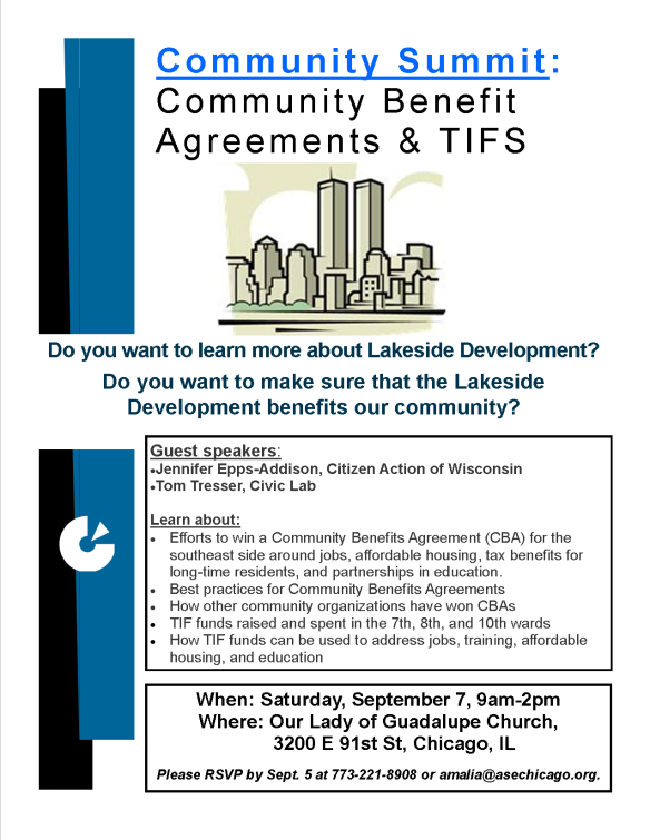 Summit on CBAs and TIFs