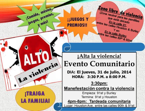 Flier for community event 07-31-14g span