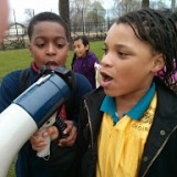 Lee & Maya leading chants