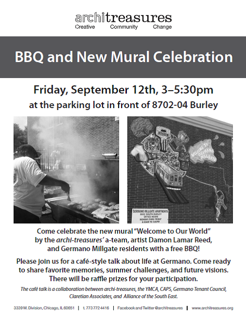 Germano Mural Celebration and cafe 09-12-14