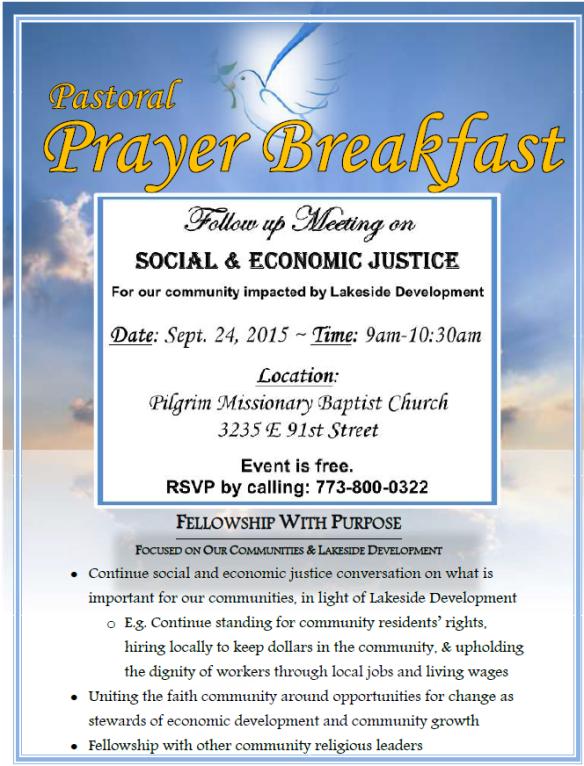 Lakeside Coalition Prayer Breakfast flier 09-24-15