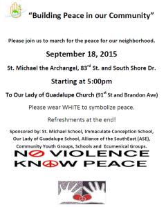 Manefestacion de paz con los jovenes 09-2015 span