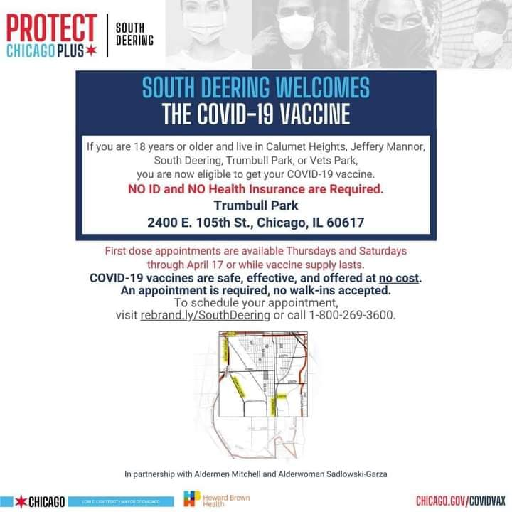 City vaccine for South Deering updated