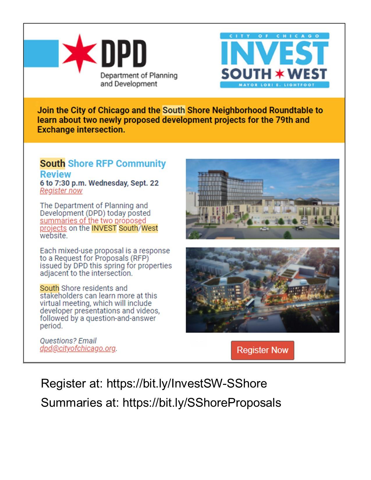 South Shore RFP Community Meeting 09-22-2021